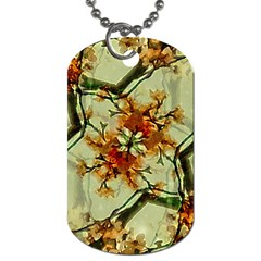 Floral Motif Print Pattern Collage Dog Tag (two Sided)  by dflcprints