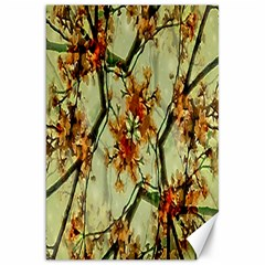 Floral Motif Print Pattern Collage Canvas 20  X 30  (unframed) by dflcprints