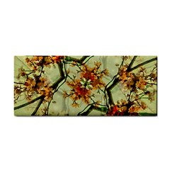 Floral Motif Print Pattern Collage Hand Towel by dflcprints