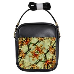Floral Motif Print Pattern Collage Girl s Sling Bag by dflcprints