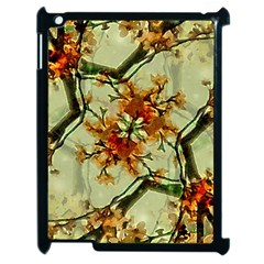 Floral Motif Print Pattern Collage Apple Ipad 2 Case (black) by dflcprints