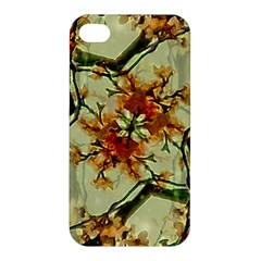 Floral Motif Print Pattern Collage Apple Iphone 4/4s Premium Hardshell Case by dflcprints