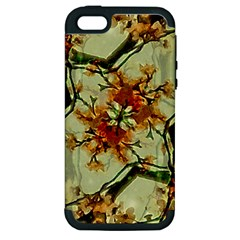 Floral Motif Print Pattern Collage Apple Iphone 5 Hardshell Case (pc+silicone) by dflcprints