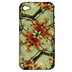 Floral Motif Print Pattern Collage Apple Iphone 4/4s Hardshell Case (pc+silicone) by dflcprints