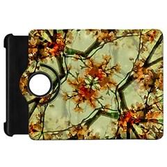 Floral Motif Print Pattern Collage Kindle Fire Hd Flip 360 Case by dflcprints