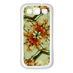 Floral Motif Print Pattern Collage Samsung Galaxy S3 Back Case (white) by dflcprints