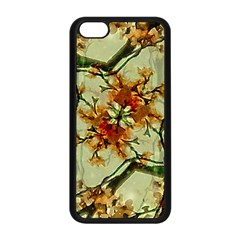 Floral Motif Print Pattern Collage Apple Iphone 5c Seamless Case (black) by dflcprints
