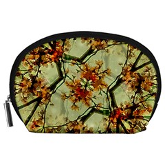 Floral Motif Print Pattern Collage Accessory Pouch (large) by dflcprints