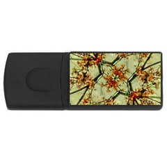 Floral Motif Print Pattern Collage 4gb Usb Flash Drive (rectangle) by dflcprints
