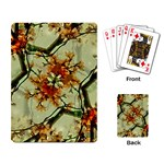 Floral Motif Print Pattern Collage Playing Cards Single Design Back