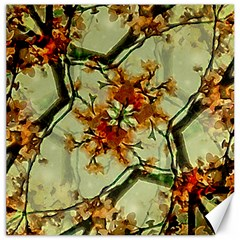 Floral Motif Print Pattern Collage Canvas 20  X 20  (unframed) by dflcprints