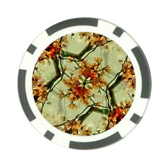 Floral Motif Print Pattern Collage Poker Chip (10 Pack) by dflcprints