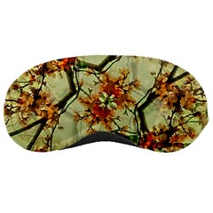 Floral Motif Print Pattern Collage Sleeping Mask
