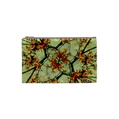 Floral Motif Print Pattern Collage Cosmetic Bag (small) by dflcprints