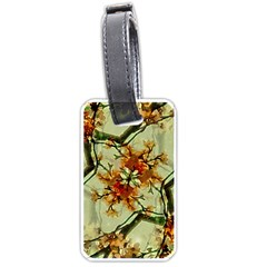 Floral Motif Print Pattern Collage Luggage Tag (two Sides) by dflcprints