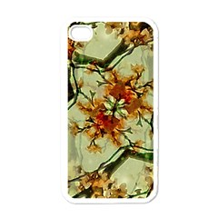 Floral Motif Print Pattern Collage Apple Iphone 4 Case (white) by dflcprints
