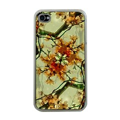 Floral Motif Print Pattern Collage Apple Iphone 4 Case (clear) by dflcprints