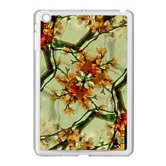 Floral Motif Print Pattern Collage Apple Ipad Mini Case (white) by dflcprints