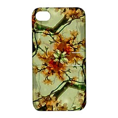 Floral Motif Print Pattern Collage Apple Iphone 4/4s Hardshell Case With Stand by dflcprints