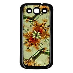 Floral Motif Print Pattern Collage Samsung Galaxy S3 Back Case (black) by dflcprints