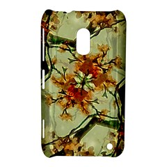 Floral Motif Print Pattern Collage Nokia Lumia 620 Hardshell Case by dflcprints
