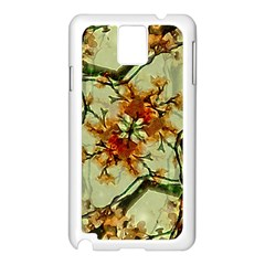 Floral Motif Print Pattern Collage Samsung Galaxy Note 3 N9005 Case (white) by dflcprints