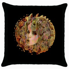 Organic Planet Black Throw Pillow Case by icarusismartdesigns