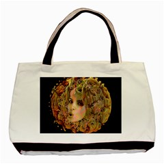 Organic Planet Twin Sided Black Tote Bag by icarusismartdesigns