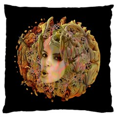 Organic Planet Large Flano Cushion Case (one Side) by icarusismartdesigns