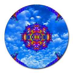 Sky Horizon 8  Mouse Pad (round) by icarusismartdesigns