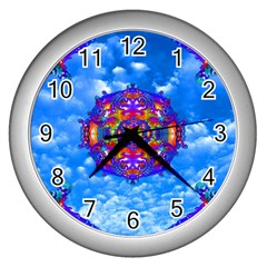 Sky Horizon Wall Clock (silver) by icarusismartdesigns