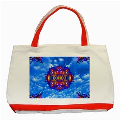 Sky Horizon Classic Tote Bag (red) by icarusismartdesigns