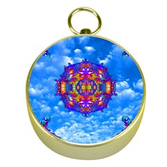 Sky Horizon Gold Compass by icarusismartdesigns