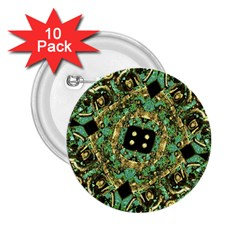 Luxury Abstract Golden Grunge Art 2.25  Button (10 pack) by dflcprints