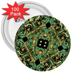 Luxury Abstract Golden Grunge Art 3  Button (100 Pack) by dflcprints