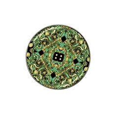 Luxury Abstract Golden Grunge Art Golf Ball Marker (for Hat Clip) by dflcprints