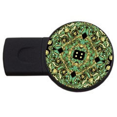 Luxury Abstract Golden Grunge Art 4gb Usb Flash Drive (round) by dflcprints