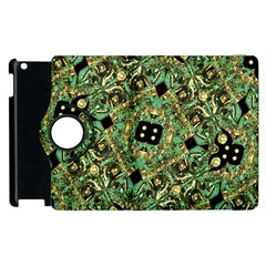 Luxury Abstract Golden Grunge Art Apple Ipad 3/4 Flip 360 Case by dflcprints