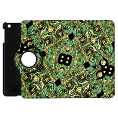 Luxury Abstract Golden Grunge Art Apple Ipad Mini Flip 360 Case by dflcprints