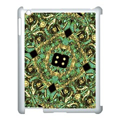 Luxury Abstract Golden Grunge Art Apple iPad 3/4 Case (White) by dflcprints