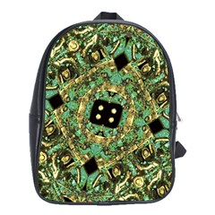 Luxury Abstract Golden Grunge Art School Bag (XL) by dflcprints