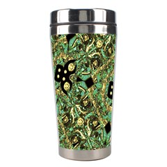 Luxury Abstract Golden Grunge Art Stainless Steel Travel Tumbler by dflcprints
