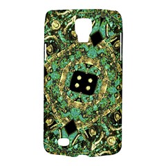 Luxury Abstract Golden Grunge Art Samsung Galaxy S4 Active (i9295) Hardshell Case by dflcprints