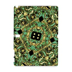 Luxury Abstract Golden Grunge Art Samsung Galaxy Note 10 1 (p600) Hardshell Case by dflcprints