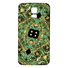 Luxury Abstract Golden Grunge Art Samsung Galaxy S5 Back Case (white) by dflcprints