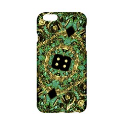 Luxury Abstract Golden Grunge Art Apple Iphone 6 Hardshell Case by dflcprints
