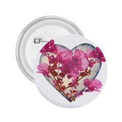 Heart Shaped With Flowers Digital Collage 2 25  Button by dflcprints