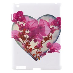 Heart Shaped With Flowers Digital Collage Apple Ipad 3/4 Hardshell Case (compatible With Smart Cover)