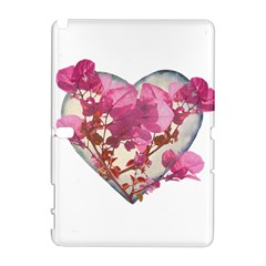 Heart Shaped With Flowers Digital Collage Samsung Galaxy Note 10 1 (p600) Hardshell Case by dflcprints
