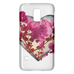 Heart Shaped with Flowers Digital Collage Samsung Galaxy S5 Mini Hardshell Case  by dflcprints